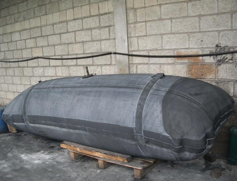 Bolsa de borracha para tanque de expansão